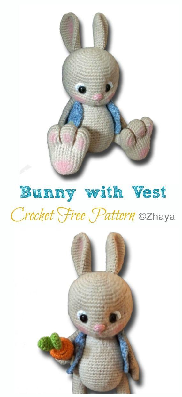 19+ Best Crochet Amigurumi Bunny Toy Free Patterns + Tutorials In 2020 | 1240x570