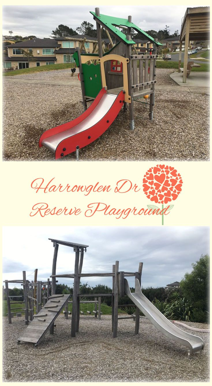 Harrowglen Dr Reserve Playground Auckland: Great Little Playground with Almost Everything a Playground can Have. Awesome Slides, Wobbly Bridge, Flying Fox and Bike Track!