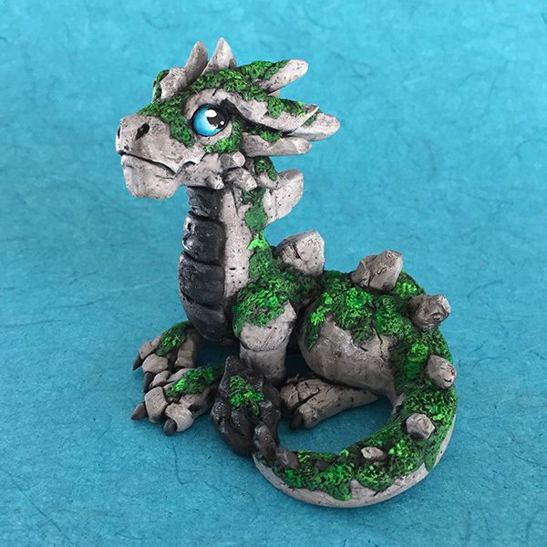 Moss Dragon Sculpture by Dragons and Beasties