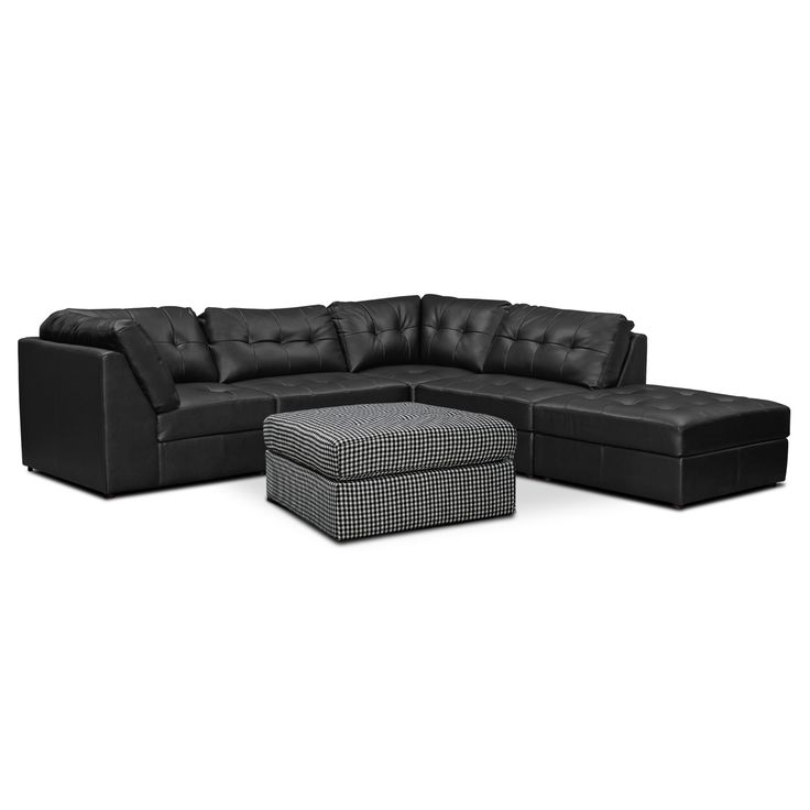 Sectional and Cocktail Ottoman Value City