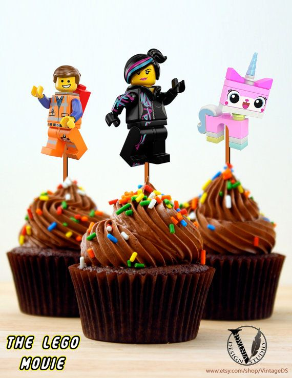 The Lego Movie Birthday Party Cupcake Toppers Images от