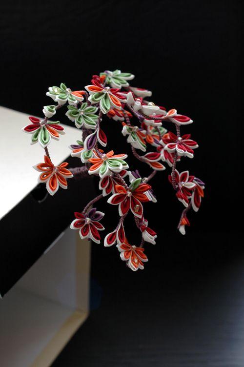 kanzashi maple leaves