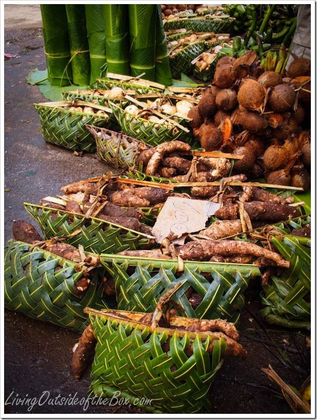 Produce at Large local market in Port Vila, Vanuatu