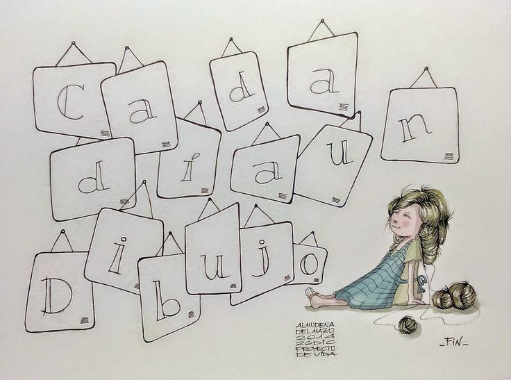 """Cada día un Dibujo : 26 de diciembre de 2014. """"Proyecto de vida"""""""