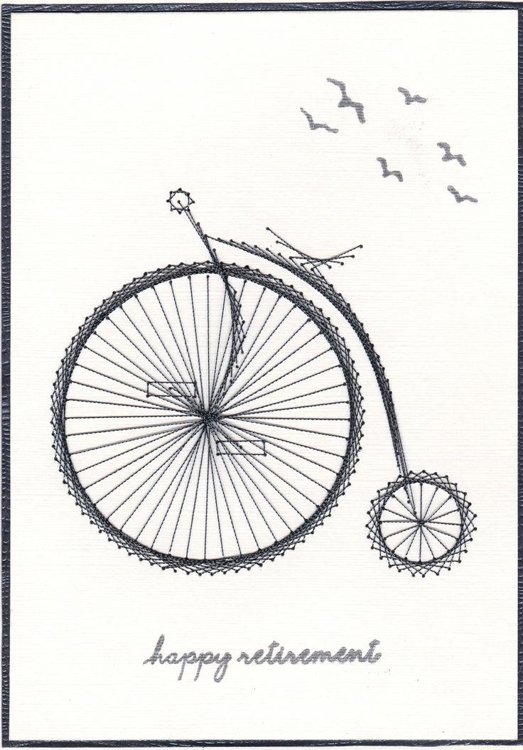 Form a line pattern Kreinik thread Papermill linen card
