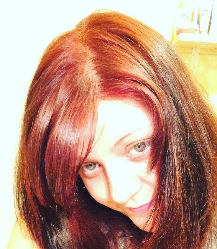 aprs mon henn auburncuivr et poudre de shikakai henne color auburn - Coloration Au Henn Auburn