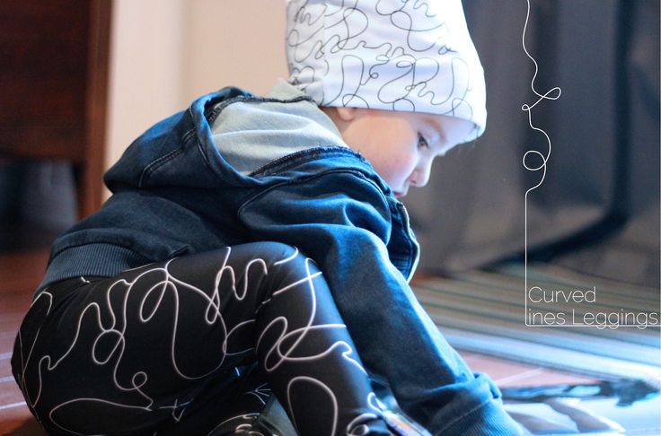 Collection of kids clothing inspired by the Visual Art Language : The Curved Lines Kit by Lalita's Art Shop