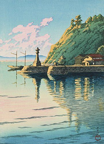 "Japanese Art Print ""Dawn at Mihogaseki (Mihogaseki no Asa)"" from the Series ""Selected Landscapes"" by Kawase Hasui. Shin Hanga and Art Reproductions http://www.amazon.com/dp/B00YSK1JB2/ref=cm_sw_r_pi_dp_oERvwb07JA4AR"