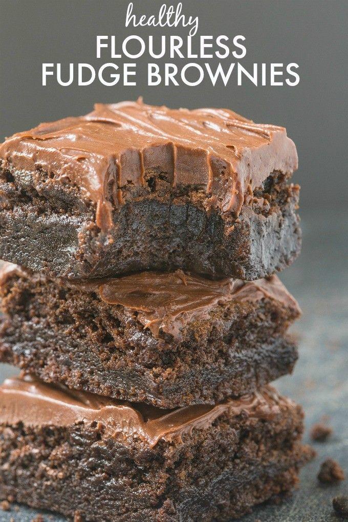 Healthy Flourless Chocolate Fudge Brownies- Just THREE ingredients in the base…