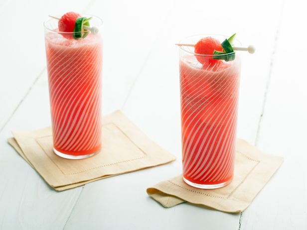 Ted Allen puts a fresher, summery twist on the classic Watermelon Mai Tai by replacing the usual orgeat syrup with cubed watermelon for just the right touch of sweetness.