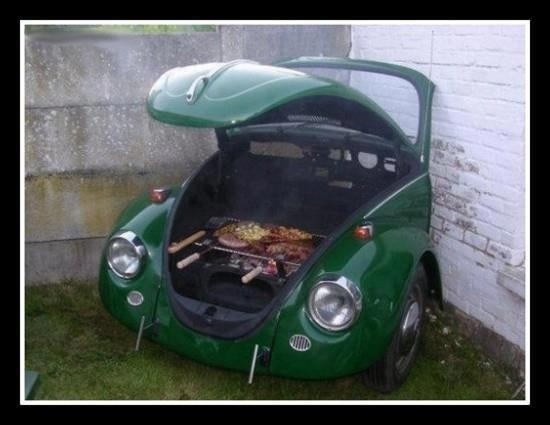 A grill in the hood?  Haha ! I've got a green Golf !!