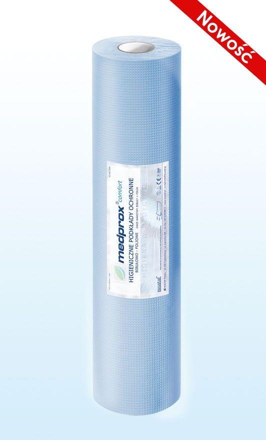 Prześcieradło jednorazowe MEDPROX comfort 50 cm, kolor zielony, niebieski