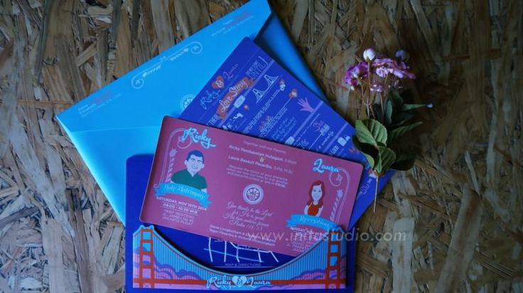 Colorfull Invitation With Envelope