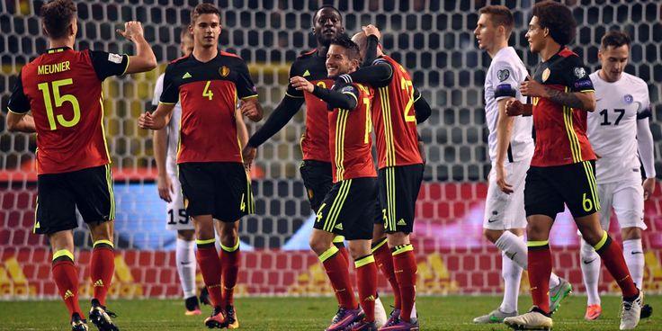 Highlights Kualifikasi Piala Dunia 2018: Belgia 8-1 Estonia
