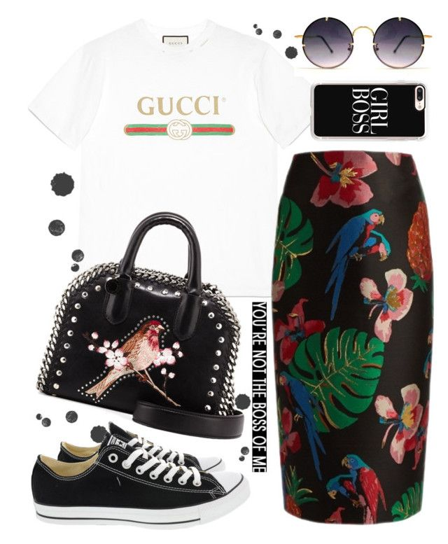 """Gucci T-Shirt"" by kitty-kat9 on Polyvore featuring moda, Gucci, Valentino, Spitfire, Converse, STELLA McCARTNEY, Casetify i gucci"