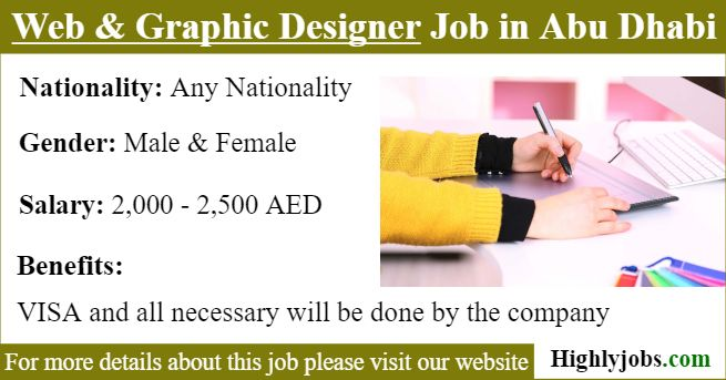 Web Graphic Designer Job Offer In Abu Dhabi Graphic Designer Job Graphic Design Job