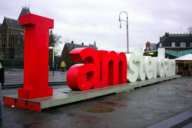 Big letters in between Van Gogh Museum and Rijksmuseum: one of the most photographed objects in Amsterdam.