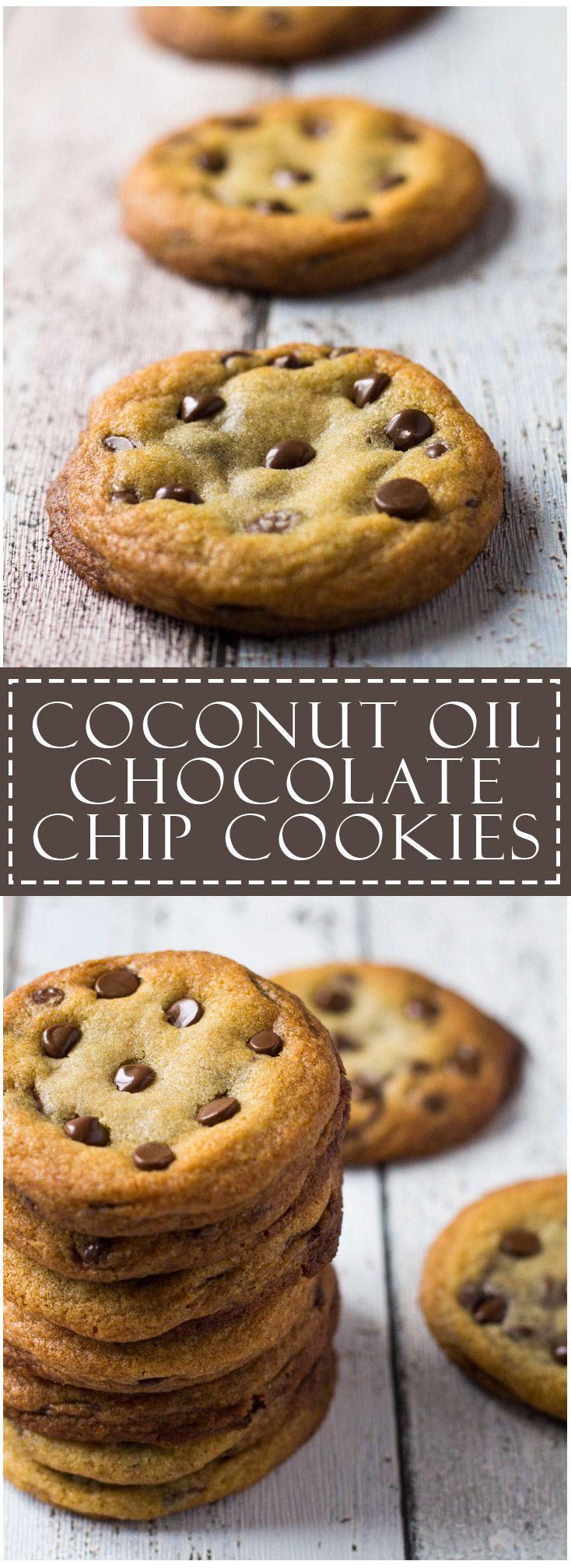 Coconut Oil Chocolate Chip Cookies | Marsha's Baking Addiction