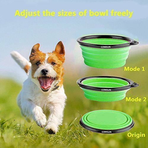 Comsun Feeding & Watering Supplies 2-pack Collapsible Dog Bowl, Food Grade BPA #Doesnotapply