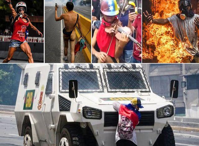 """Desde """"El violinista de las marchas"""" al """"Hombre ardiendo"""": Conozca los cinco íconos de la resistencia en Venezuela"""