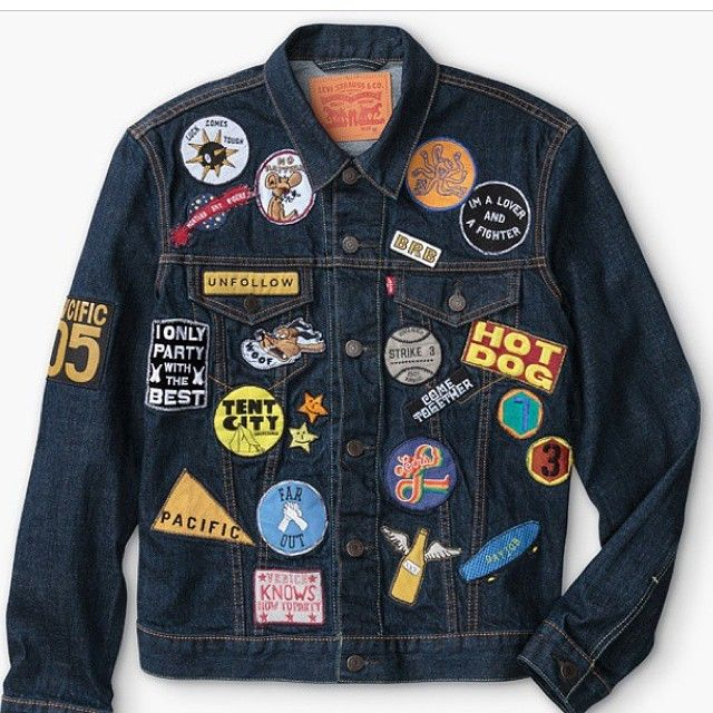 Happy sunday! We love patch and you? And we love this Levi's jacket.