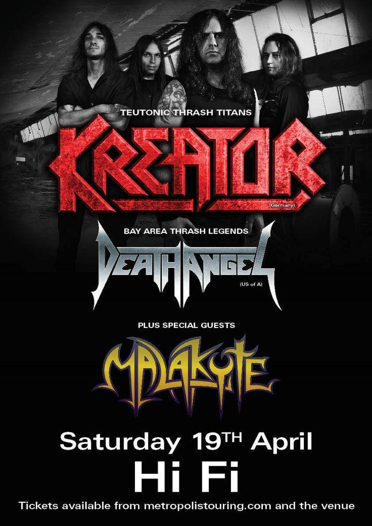 Kreator / Death Angel Australian Tour Poster - Brisbane show.  Sat 19th April 2014 with Malakyte