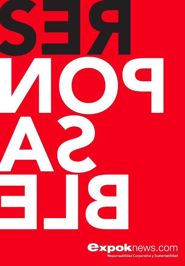 Poster para agencia de Responsabilidad Corporativa. SER Responsable.