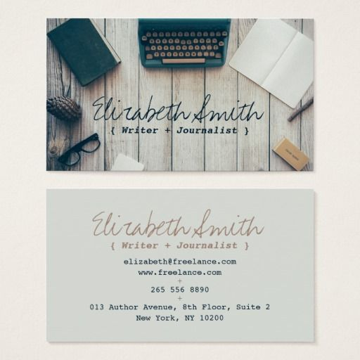 214 best journalistreporter business cards images on pinterest writer author cool vintage typewriter professional business card wajeb Images