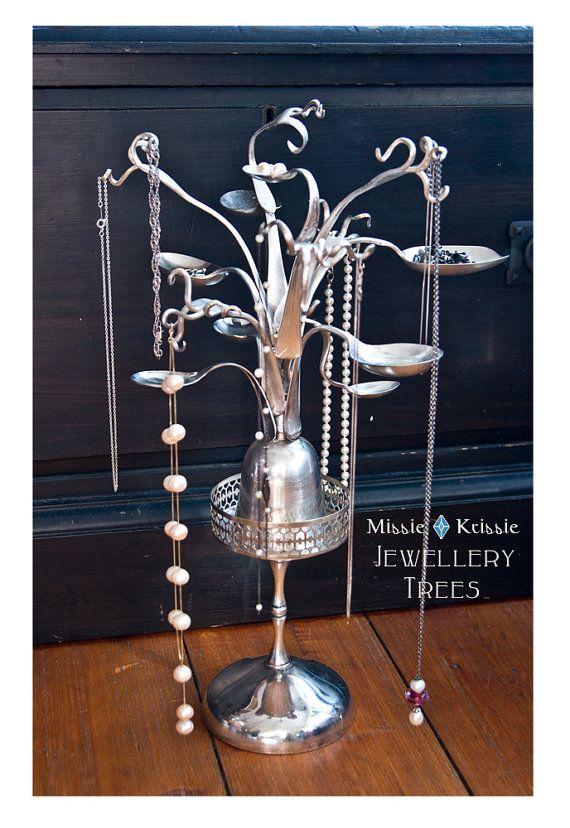 Jewellery Tree made w/ Recycled Silverware