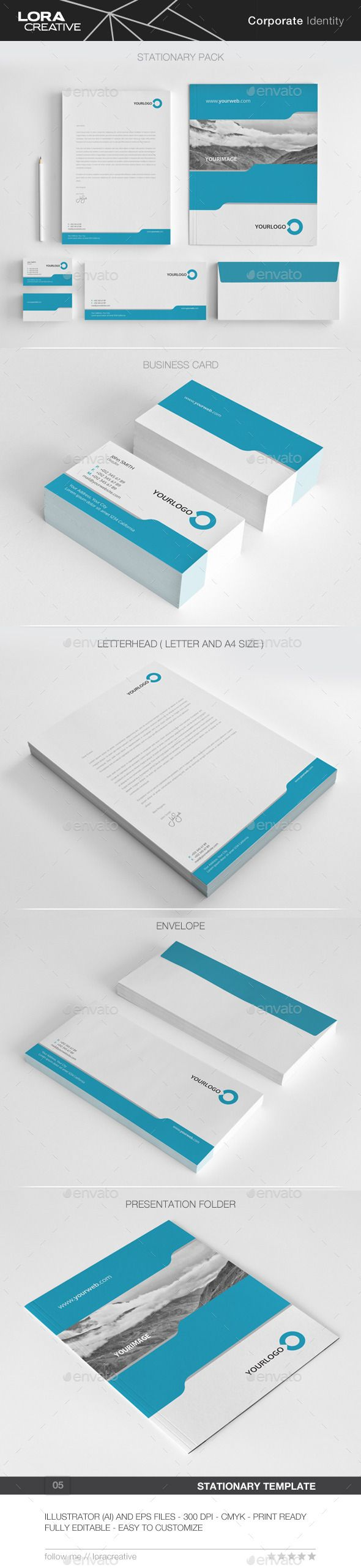 Pure Concept Stationary Pack - 05 - Stationery Print Templates