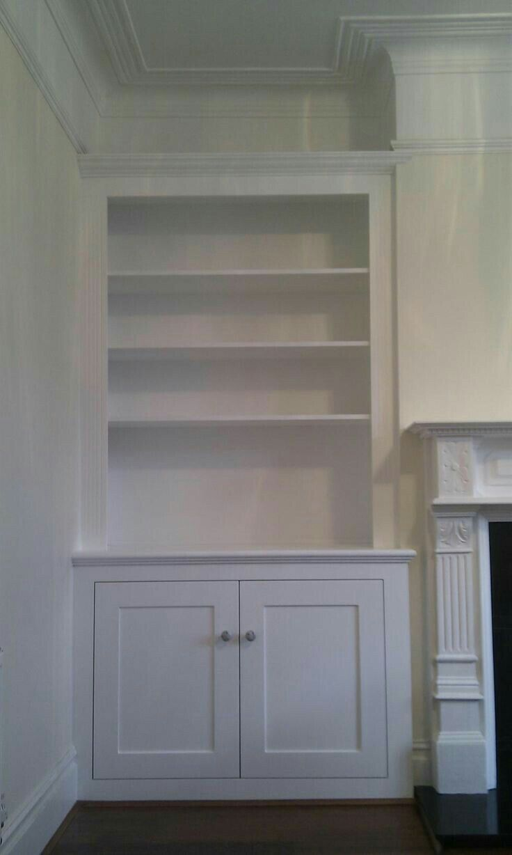Alcove shelving & cupboard