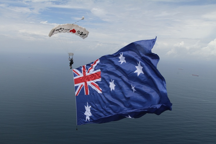 Australia Day Skydive in Wollongong - via @Skydive the Beach