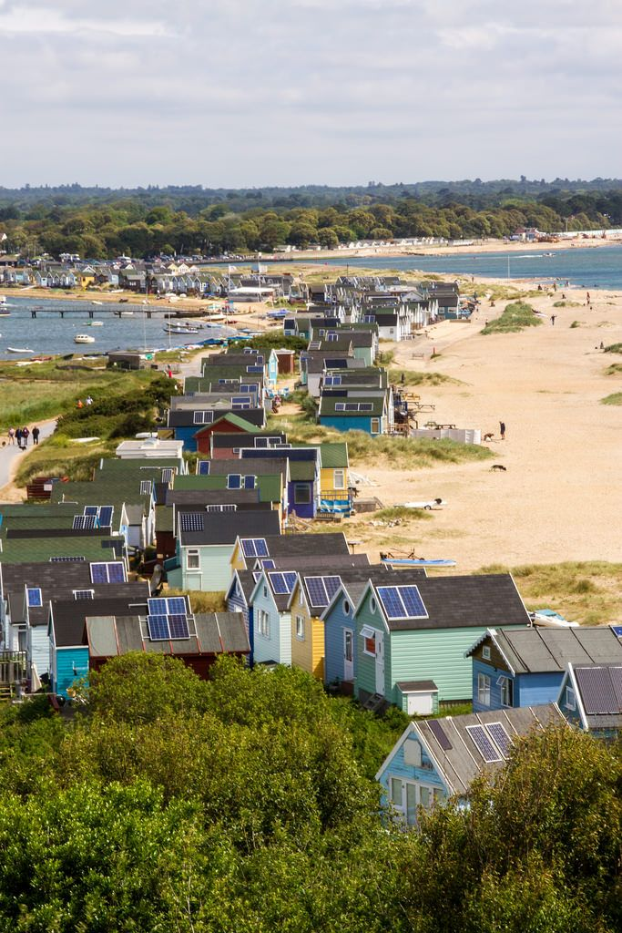 "wanderthewood: ""Beach huts at Hengistbury Head, Dorset, England by silvermsc """