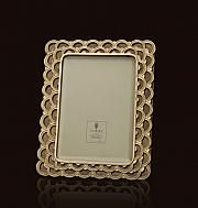 "Fortuny par L'Objet Moyen cadre photo plaqué en or 14K / Medium picture frame in 14K gold plating., 5"" x 7"""