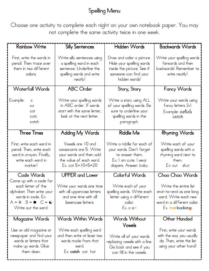 Some good ideas for word work