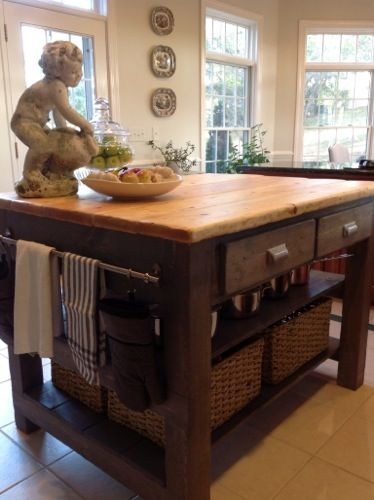 Kitchen Island Used As Dining Table best 25+ homemade kitchen island ideas only on pinterest