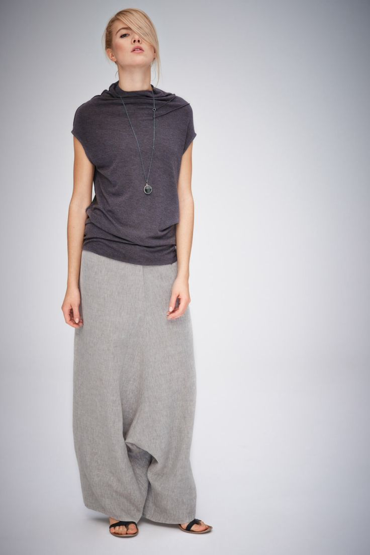 Grey-Beige Linen Pants/ Extravagant Drop Crotch Beige-Grey Pants/ Loose Linen Trousers/ Stylish Harem Pants by AryaSense by AryaSense on Etsy https://www.etsy.com/listing/209408856/grey-beige-linen-pants-extravagant-drop