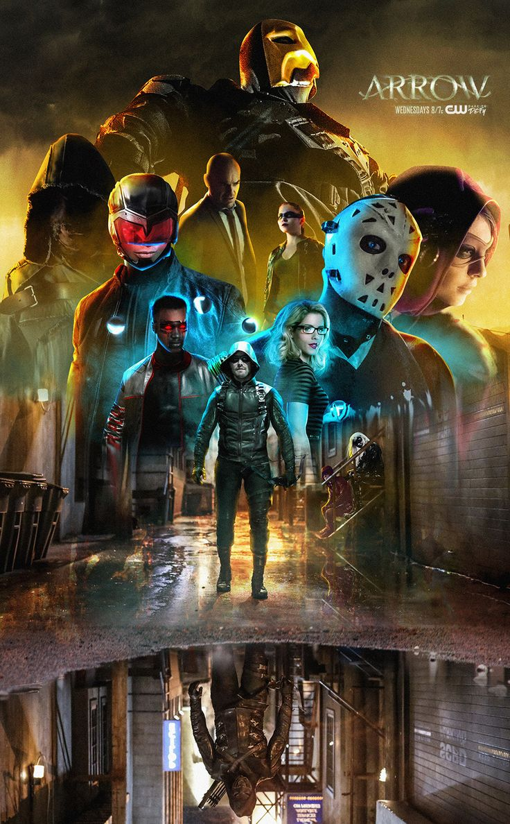 Arrow Season Poster by Bosslogic on ArtStation at https://www.artstation.com/artwork/WrDQv