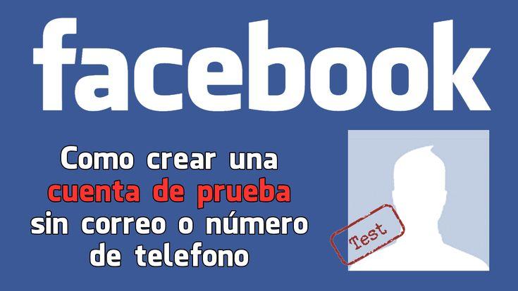 Crear cuenta de prueba de Facebook ✅ sin tener que usar una cuenta de correo electrónico o número de teléfono. #Facebook #CuentaDePrueba #RedesSociales downloadsource.es