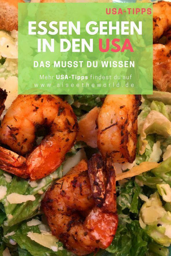 Tipps für deinen Urlaub in den USA - Essen gehen in den USA - Das musst du wissen. Mehr Reisetipps findest du auch auf dem Reiseblog www.aiseetheworld.de #reiseblog #reisetipps #tipps #usa #florida