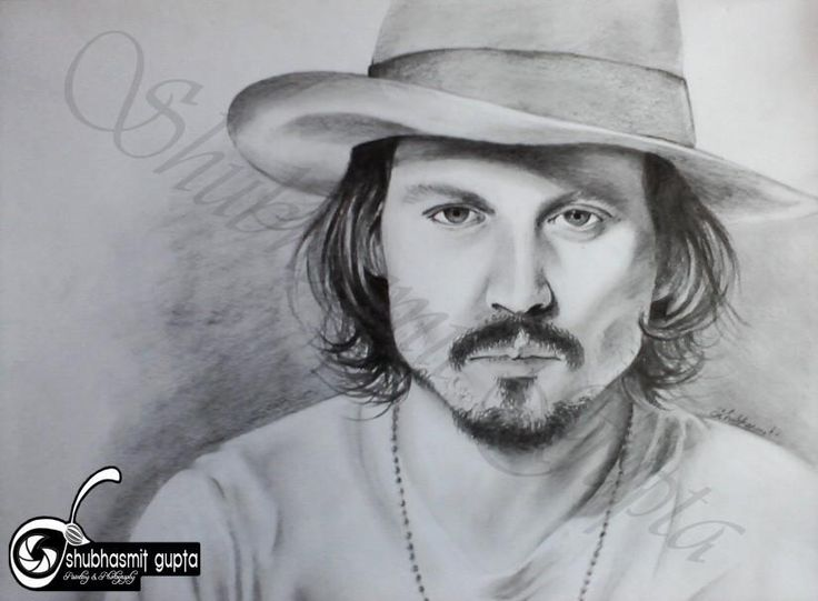 Johnny Depp - Sketching by Shubhasmit Gupta in My Paintings at touchtalent 56190