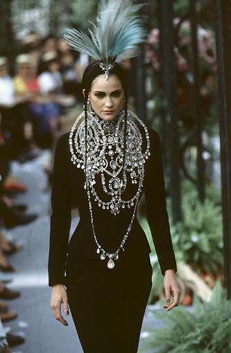 notordinaryfashion:  Christian Dior Haute Couture Fall 1997   elegant and silly simultaneously