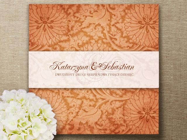 Zaproszenia ślubne, zaproszenie OLD FLOWERS II