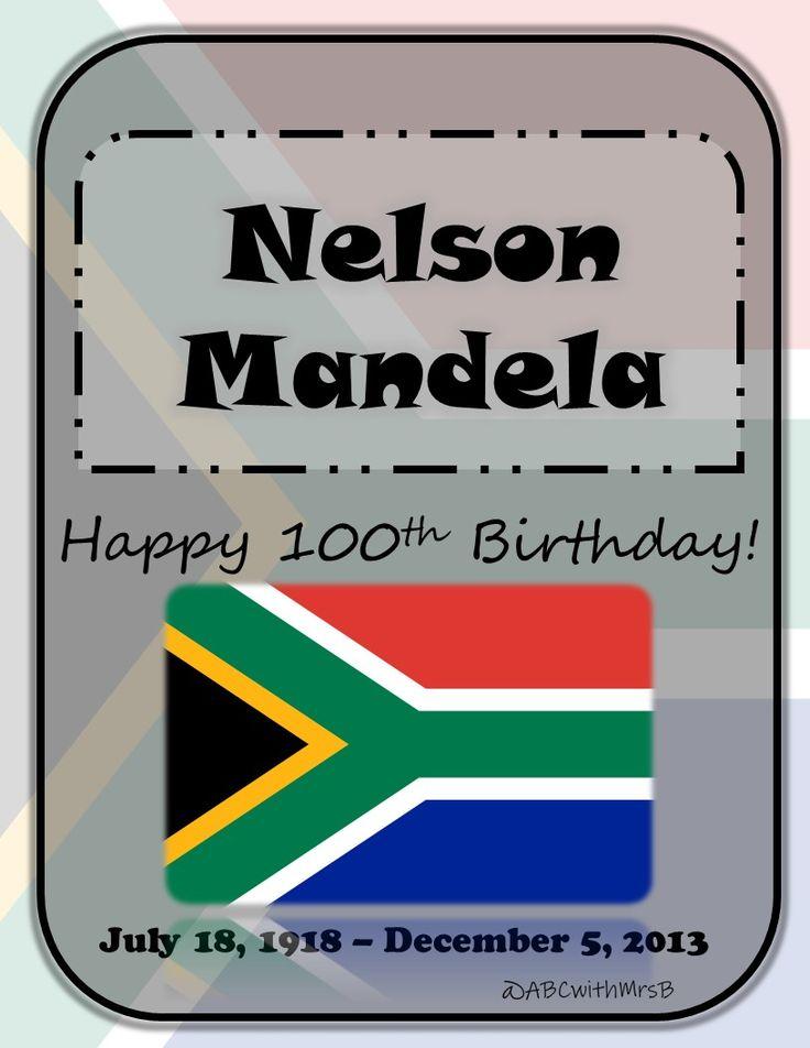 Happy 100th Birthday Nelson Mandela