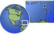 Guadeloupe carte de localisation de fuseau horaire frontières