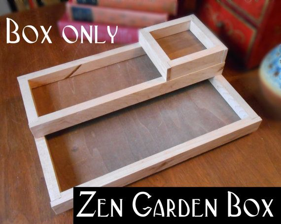 DESKTOP ZEN GARDEN reclaimed wood box tray for a by Cinnabarys