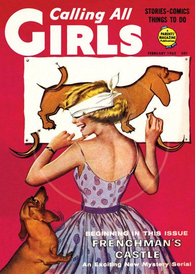 Calling all Girls (Feb 1962) - 10x14 Giclée Canvas Print of Vintage Children's Magazine