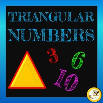 Triangular numbers mini pack contains a PowerPoint, Lesson Plan + Printables. It aims to teach students about triangular numbers. The goal of the PowerPoint and Lesson is to enable students to identify and describe triangular numbers.  You may also be interested in SQUARE NUMBERS!