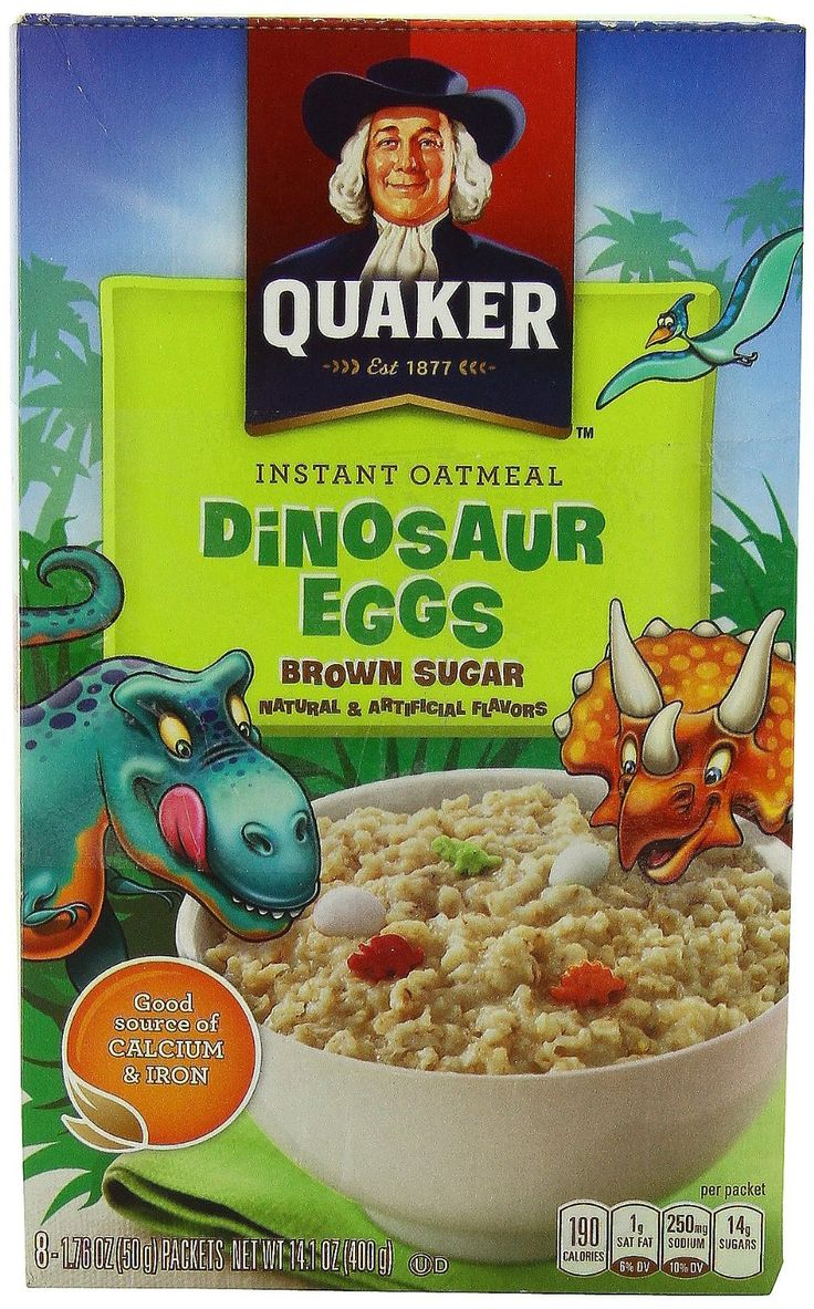 NEED TO BUY Quaker Instant Oatmeal Dinosaur Eggs, Brown Sugar Cereal, 8-Count Boxes (Pack of 4): Amazon.com: Grocery & Gourmet Food