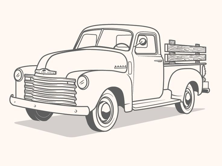 Truck Illustration | Truck coloring pages, Christmas red ...
